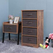 Iwell Wooden Dresser Storage Tower with Removable 4-Drawer Chest