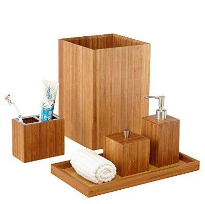 Seville Classics 5-Piece Bamboo Bath and Vanity Luxury Bathroom