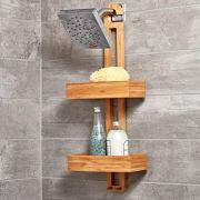 iDesign Formbu Bamboo Hanging Shower Caddy for Shampoo