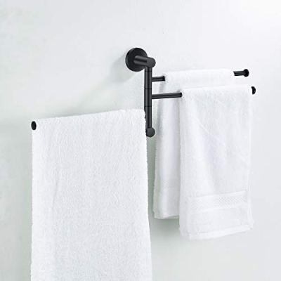 Towel Rack Bathroom Swivel Towel Bar 3 Multi Fold-able Arms Rotation