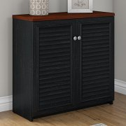 Bush Furniture Fairview Small Storage Cabinet with Doors in Antique Black
