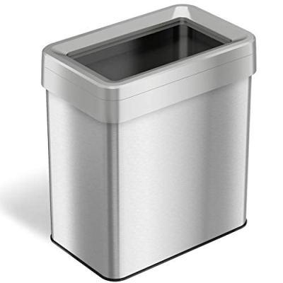 iTouchless 16 Gallon Dual-Deodorizer Open Top Trash Can Rectangular Shape