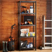 VonHaus 5 Tier Garage Shelving Unit with Wall Brackets