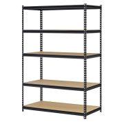 Edsal Steel Storage Rack, 5 Adjustable Shelves