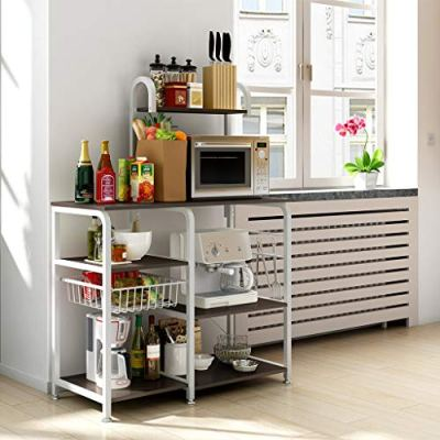 Lookvv Kitchen Bakers Rack Utility Storage Shelf Microwave
