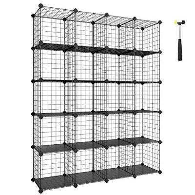 SONGMICS Wire Cube Storage, 20-Cube Modular Rack, Storage Shelves
