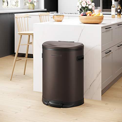 songmics kitchen trash can,13.2 gal (50l) pedal garbage
