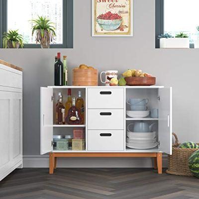 HOMECHO Floor Buffet Sideboard Storage Cabinet Freestanding Console
