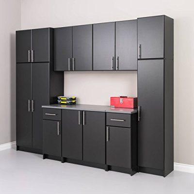 "Prepac Elite Storage Cabinet 16"" Narrow, Black"