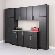 "Prepac Elite Storage Cabinet 16"" Narrow, Black"