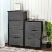 YOURLITEAMZ 4-Drawer Storage Organizer Dresser Non-Woven Fabric Organizer