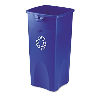 Rubbermaid Commercial Rectangular 23-Gallon Untouchable Recycling Container