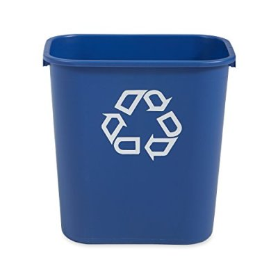 Rubbermaid Commercial Products Plastic Resin Deskside Recycling Can