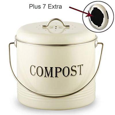 Vintage Kitchen Compost Bin-Indoor Scraps Compost Bucket Container