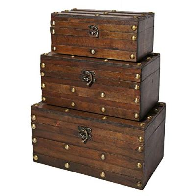 Soul & Lane Monahan Wooden Trunk Chests (Set of 3)