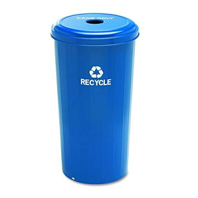 Safco Products Tall Round Recycling Trash Can, 20-Gallon, Blue