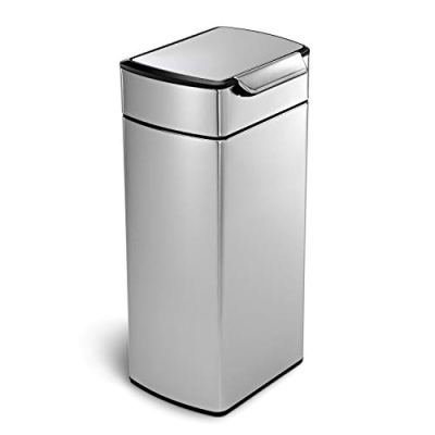 simplehuman 30 Liter / 8 Gallon Stainless Steel Touch-Bar Kitchen Trash Can