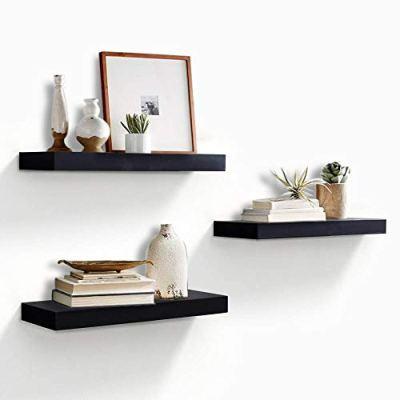 AHDECOR Floating Wall Mounted Shelves, Set of 3 Display Ledge Shelves