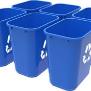 Storex Medium Recycling Basket, 15 x 10.5 x 15 Inches, Blue