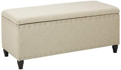 Christopher Knight Home Living Dynasty Fabric Storage Ottoman