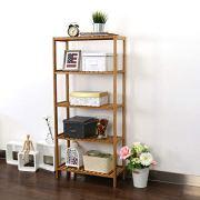 Kinbor 5-Tier Storage Shelving Rack Utility Shelf Multifunctional Bamboo Rack