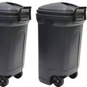 United Solutions Rough and Rugged Rectangular 34 Gallon Wheeled Black