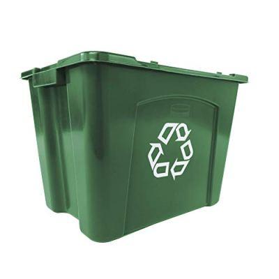Rubbermaid Commercial Recycling Bin, 14 gallon