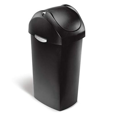 simplehuman 60 Liter / 16 Gallon Swing Lid Trash Can
