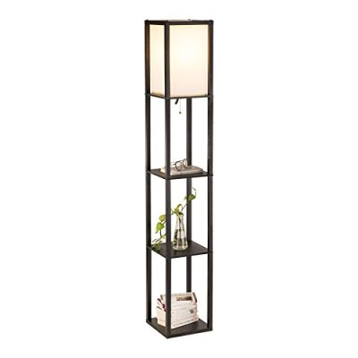 CO-Z Floor Lamp, Etagere Lamp with Shelves, Standing Lamp