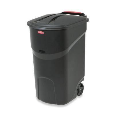 Rubbermaid Roughneck 45 Gal. Black Wheeled Trash Can