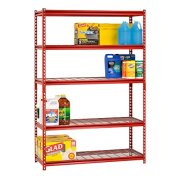 """Muscle Rack 5-Shelf Steel Shelving Unit, 48"""" Width x 72"""" Height"""