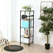 HollyHOME 5 Shelves Adjustable Steel Wire Shelving Rack
