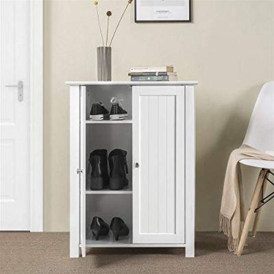 Yaheetech Free Standing Bathroom Cabinet Wood Side Cabinet Storage