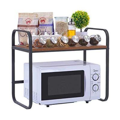 SUNPACE Simple Kitchen Baker's Rack Utility Storage Shelf Microwave