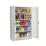 Tennsco Heavy Gauge Steel Jumbo Storage Cabinet, 5 Shelves