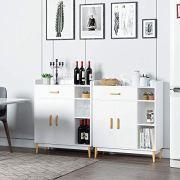 Homfa Sideboard Storage Cabinet, Free Standing Cupboard