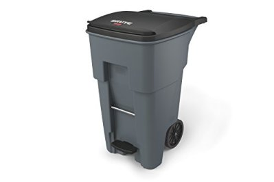 Rubbermaid Commercial Brute Step-On Rollout Trash Can