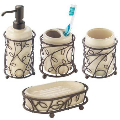 InterDesign Twigz Bath Accessory Set, Soap Dispenser Pump