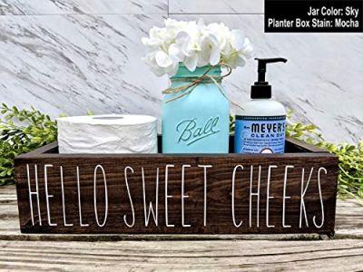 Hello Sweet Cheeks Bathroom Box. Bathroom Humor Toilet Tray