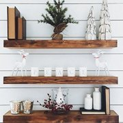 New England Wood Crafters Wooden Floating Shelves