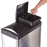 The Step N' Sort 16 Gal. 2-Compartment Stainless Steel