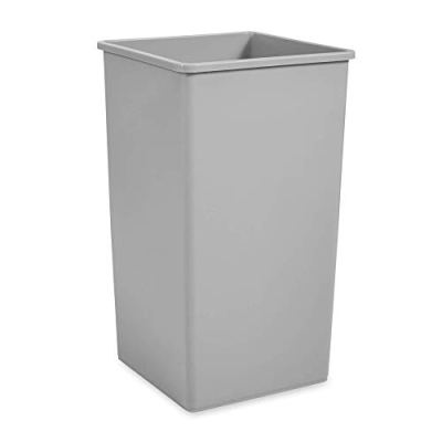 Rubbermaid Commercial Square 50-Gallon Untouchable Trash Can
