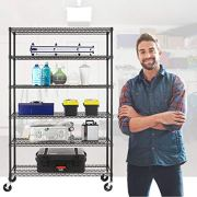 NSF Wire Shelving Unit 6-shelf Large Storage Shelves Heavy Duty Metal