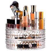 DreamGenius Jewelry Box and Makeup Organizer Combo 360 Degree Rotating