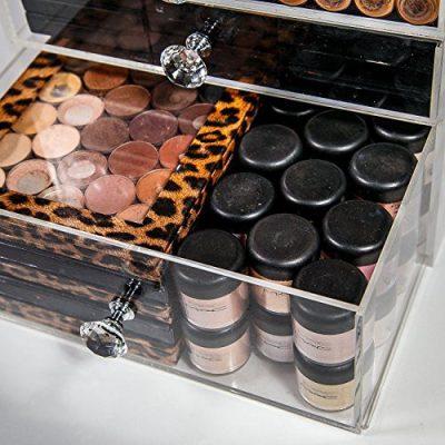 N2 Makeup Co Acrylic Makeup Organizer Cube | 5 Drawers Storage Box