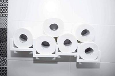 EWARTWOODS Wood Toilet Paper Holder Toilet Paper Shelf Wood Holder