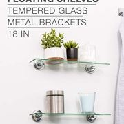 18 Inch Tempered Glass Shelf by LDR, paired with Zinc Alloy Wall