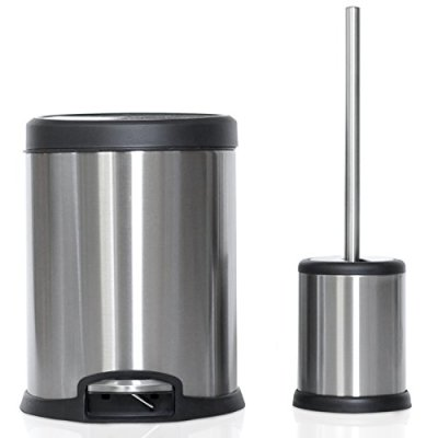 ToiletTree Products Toilet Brush with Lid and 5L Trash