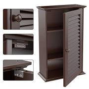 Topeakmart Bathroom/Kitchen Wall Mounted Single Louvered Door