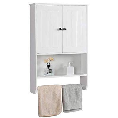 Yaheetech Bathroom Organizer Cupboard Wall Mounted Medicine Cabinet